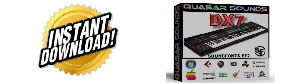 YAMAHA DX7 WAVE SAMPLES Kontakt Reason Logic Cubase