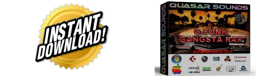 G FUNK GANGSTA RAP  WAVE SAMPLES Kontakt Reason Logic Cubase