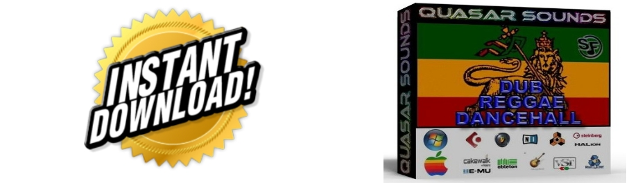 REGGAE DANCEHALL DUB  WAVE SAMPLES Kontakt Reason Logic Cubase