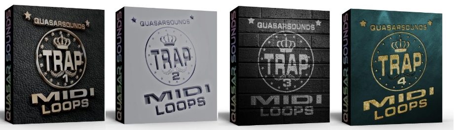 TRAP MIDI LOOPS Complete  Bundle Pack 1 - 4