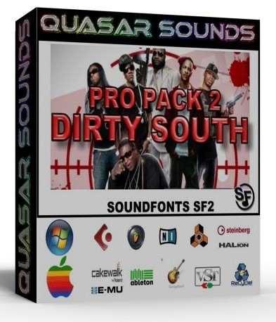 DIRTY SOUTH MASSIVE PRO PACK 2 - SOUNDFONTS SF2
