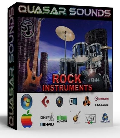 ROCK INSTRUMENTS and DRUMS Soundfonts Sf2