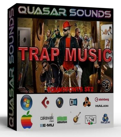 TRAP MUSIC KIT Soundfonts Sf2 DRUMS SYNTHS CHANTS