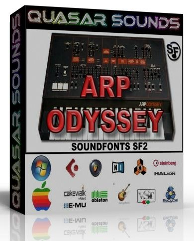ARP ODYSSEY SAMPLES WAVE KONTAKT REASON LOGIC HALION  $14.95
