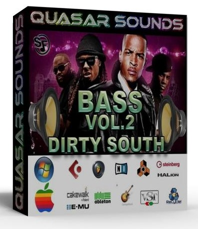 DIRTY SOUTH BASS VOL 2 - WAV KONTAKT REASON LOGIC HALION