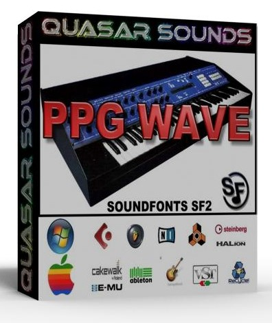 PPG WAVE 2 3 SAMPLES WAVE KONTAKT REASON LOGIC HALION   $14.95
