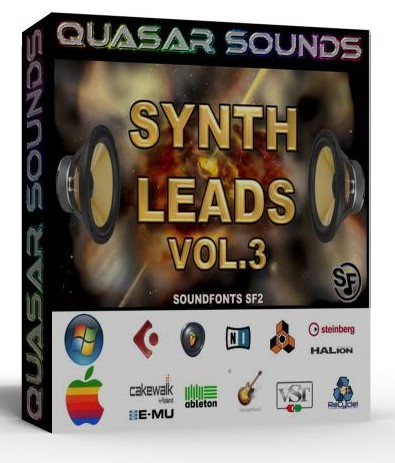 SYNTH LEADS VOL.3 WAVE KONTAKT REASON LOGIC HALION  $19.95