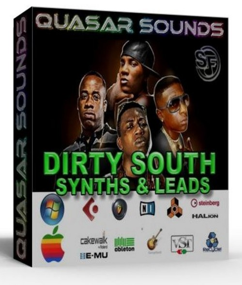 DIRTY SOUTH  TRAP SYNTHS VOL 1   SOUNDFONTS SF2  $19.95