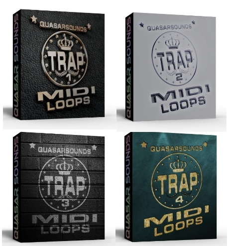 TRAP MIDI LOOPS Complete Bundle Pack 1 - 4 • Download Best FL ...